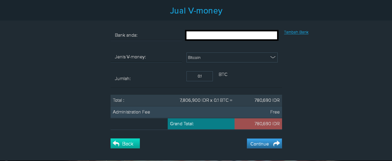 Sell your Bitcoin to Bank Account Instantly (Indonesian's