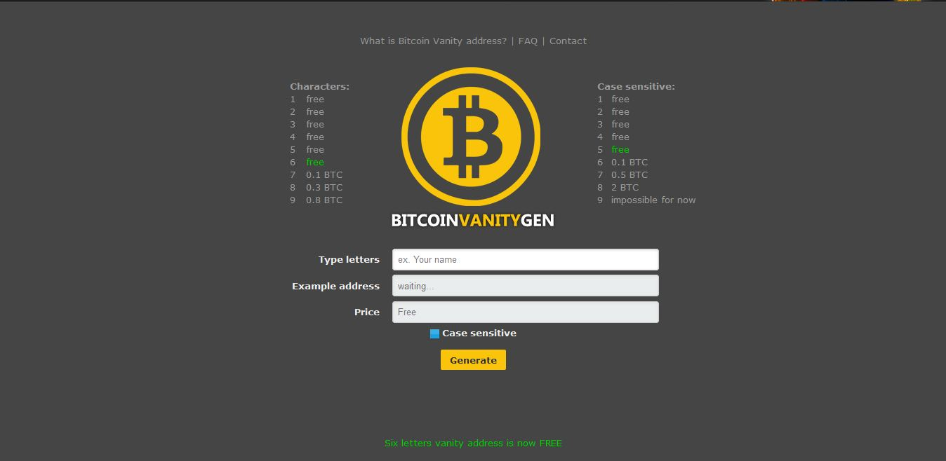 Alternative way to generate your Bitcoin Address (3rd Party