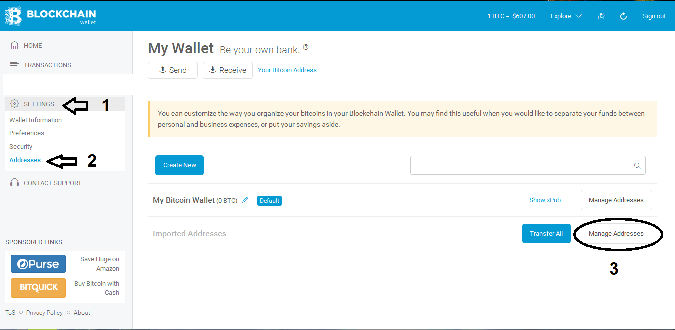How To Sign Message Your Bitcoin Address And Verify It Blockchain - choose the address you want to signed if you find it click more options and click sign message
