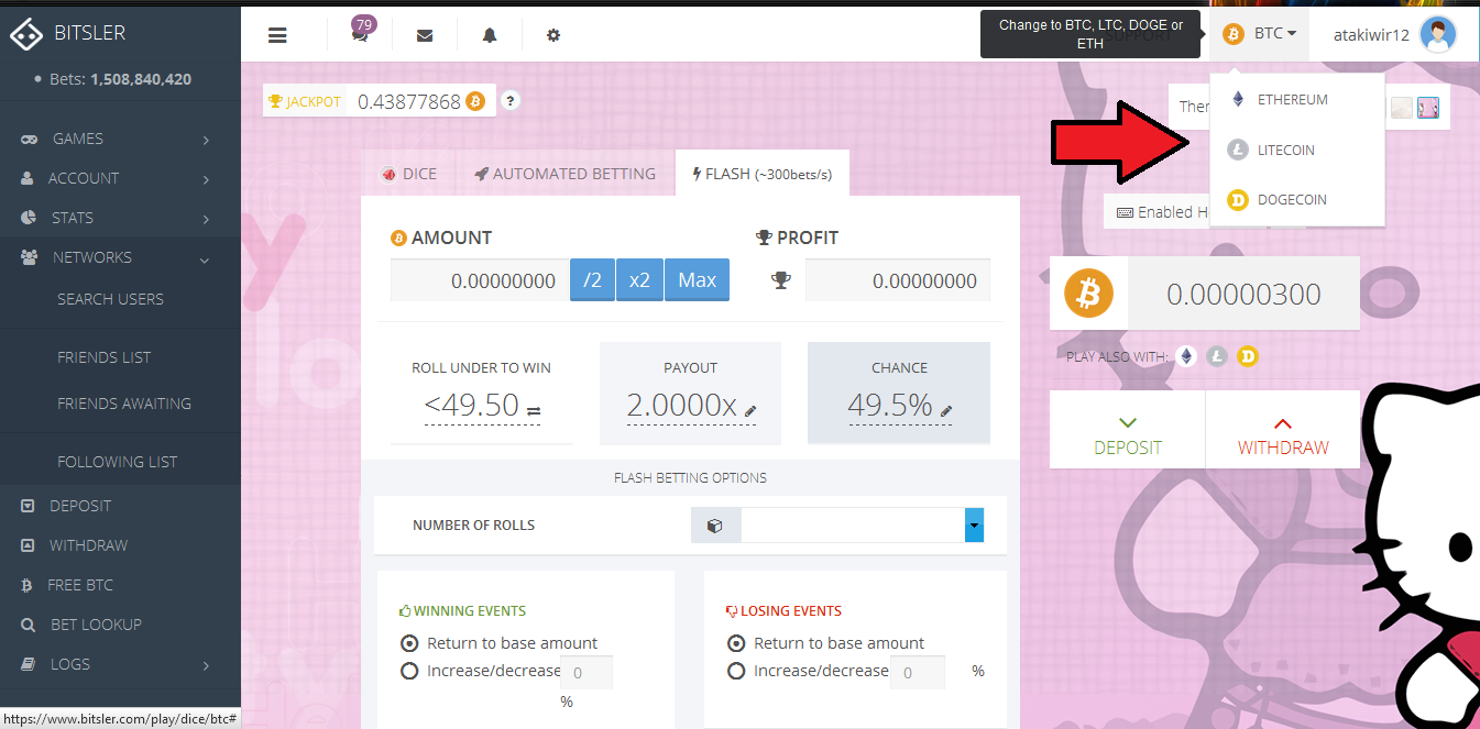 Bitsler , Gambling Bitcoin Dice • Newbium